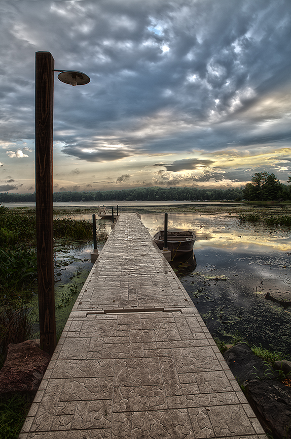 Dock at Little St. Germaine ©Della Nohl 2013