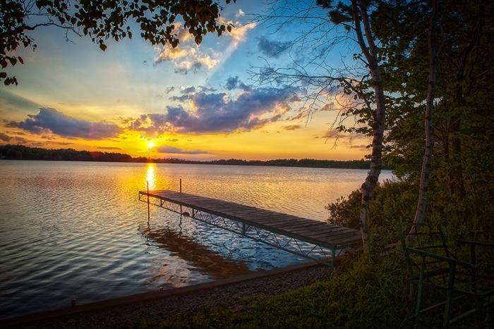 Dock at Torch Lake, MN